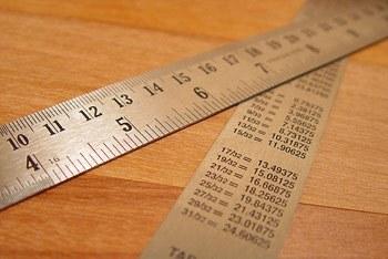 Таблица соответствия размеров дюймовой и метрической систем.